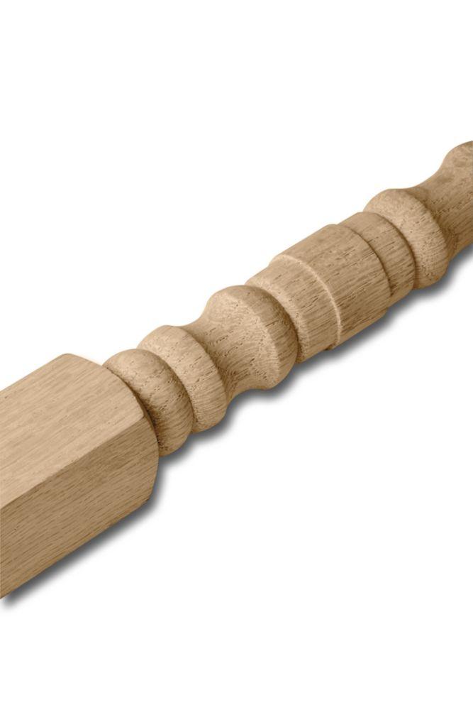 Oak Turned Baluster 1-1/4 In. x 1-1/4 In. x 36 In.