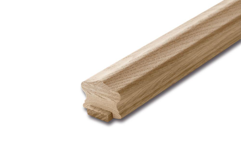 Oak Handrail & Fillet 1-5/8 In. x 2-1/4 In. x 8 Ft.