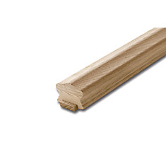 Oak Handrail & Fillet 1-5/8 In. x 2-1/4 In. x 10 Ft.