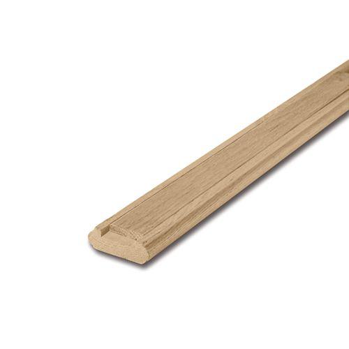 Alexandria Moulding Rail et filet de chaussure carré en chêne non fini de 3/4 po x 2 1/4 po x 8 pi