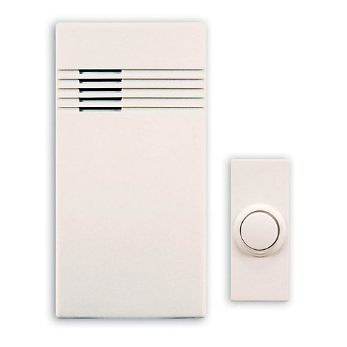 Wireless Battery Operated Door Chime Kit With White Cover