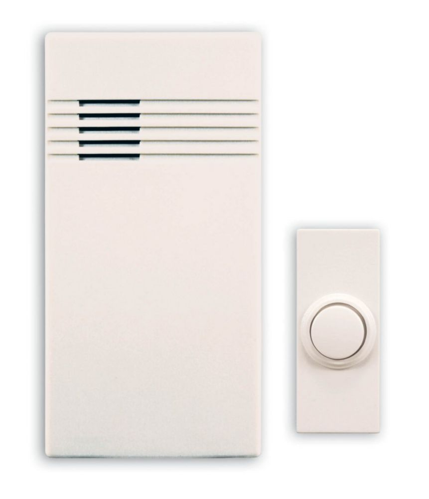 Heath Zenith Wireless Battery Operated Door Chime Kit With White Cover