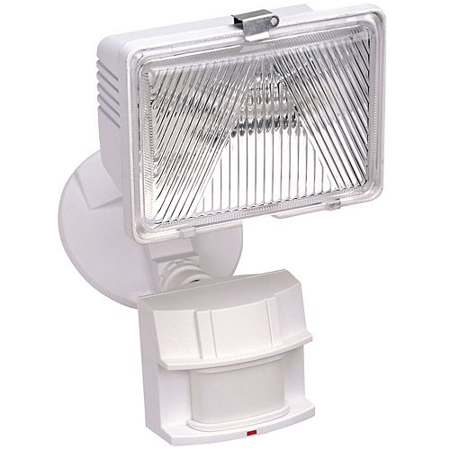 Heath Zenith 180 Degree 250W Halogen Motion Sensing Security Light - White