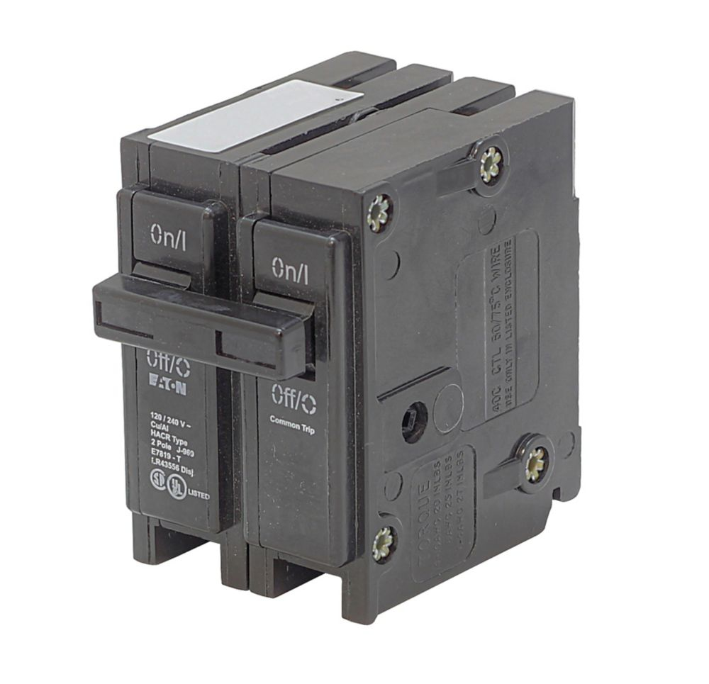 Eaton Plug In Replacement Br Breaker 2p 20a The Home Depot Canada Automatictransfer Switch Ats 220v 5 Main Circuit Connectionjpg