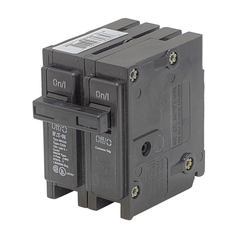 Plug-In Replacement Br Breaker - 2P 100A BR2100 Canada Discount
