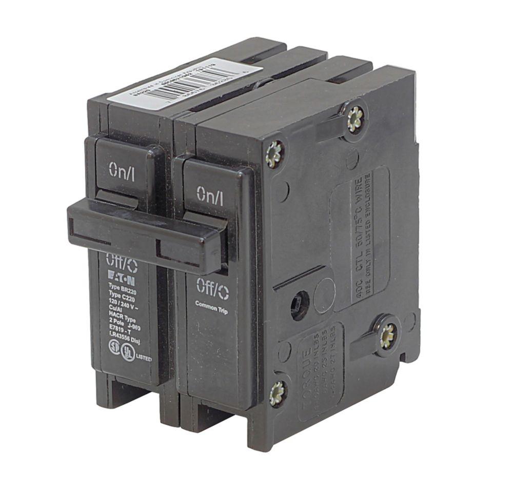 Type BR, disjoncteur de replacement enfichable - 2P 100A