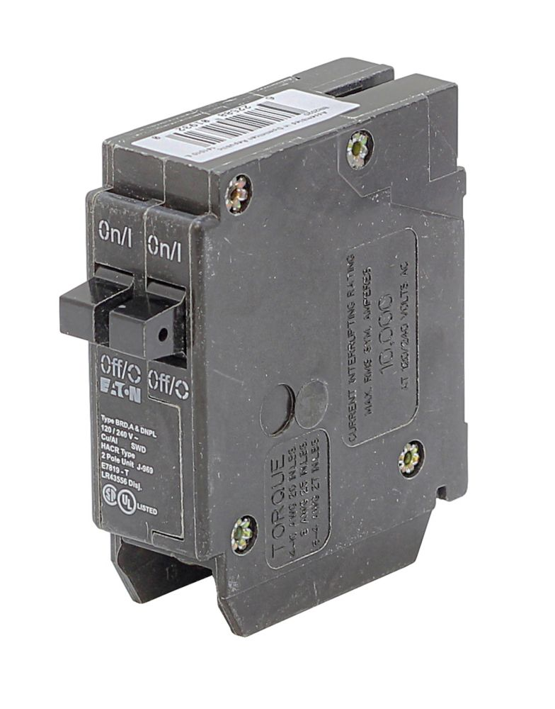 Plug-In Duplex/Quad Replacement Breaker - 2-1P 15A DNPL1515 Canada Discount