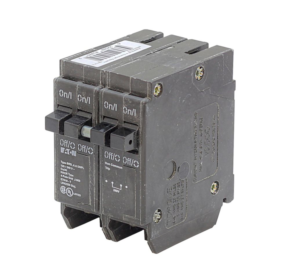 Plug-In Duplex/Quad Replacement Breaker - 2-1P 15A & 1-2P 40A DNPL154015 Canada Discount