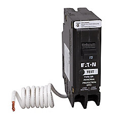 15 Amp BR Type 1-Pole GFCI Breaker with Self-Test