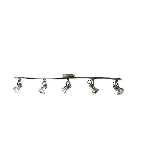 Vortex 5 Light Track Kit in Platinum Finish with Frosted Glass Shade