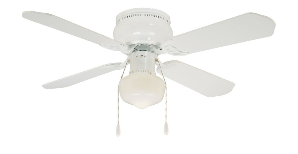 Littleton Ceiling Fan in White - 42 Inches