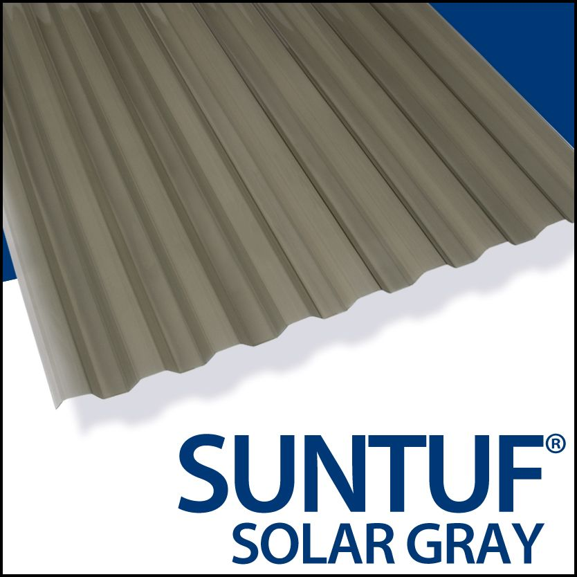 Pan. Poly. Can 8' Gris Solaire