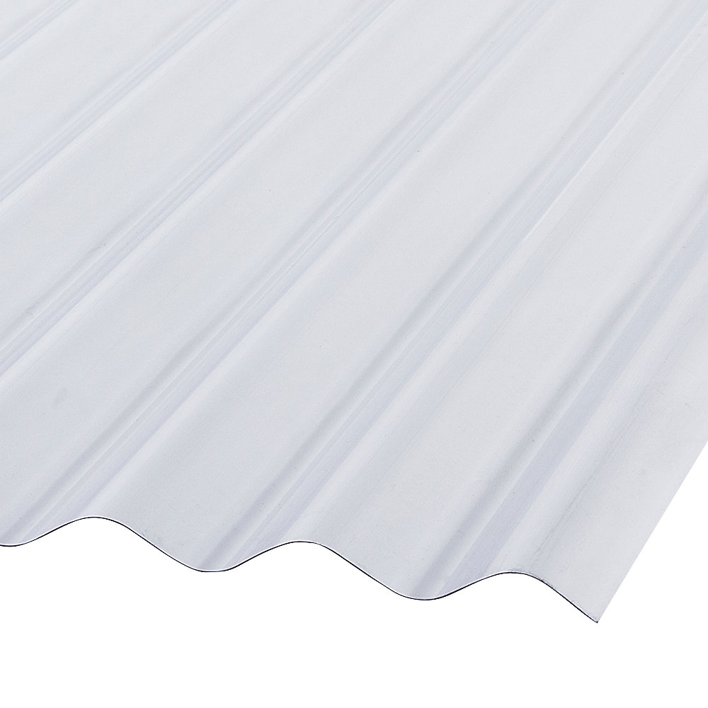 Palruf Corrugated Pvc 12 Ft Clear Roofing Panels The