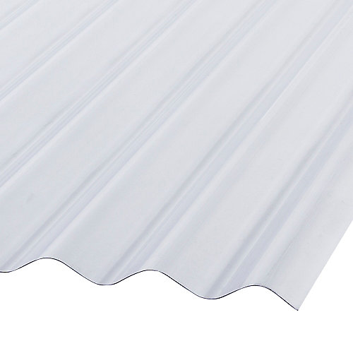 Corrugated PVC 12 ft. Clear Roofing Panels
