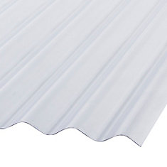 12 ft. Clear Corrugated PVC Roofing Panels