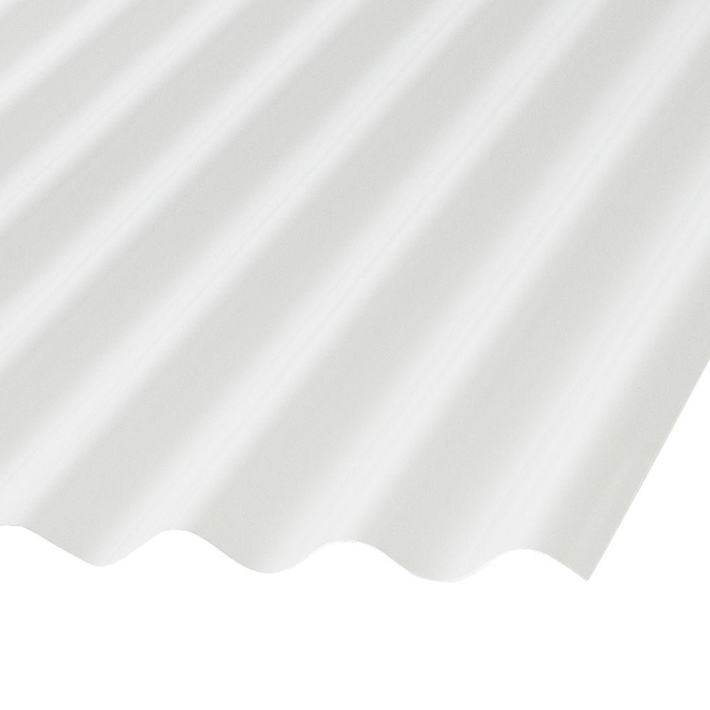 Cor. Pvc 8 Feet . White Opaque