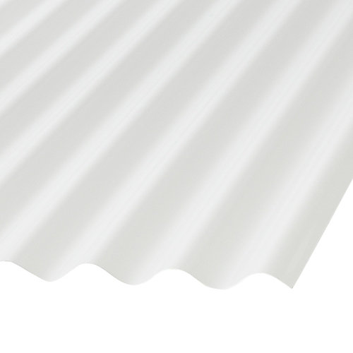 Corrugated PVC 12 Ft  White Opaque Roofing Panels