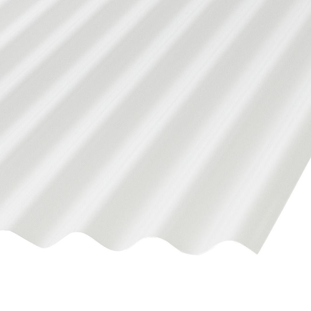 Cor. Pvc 12  Feet . White Opaque