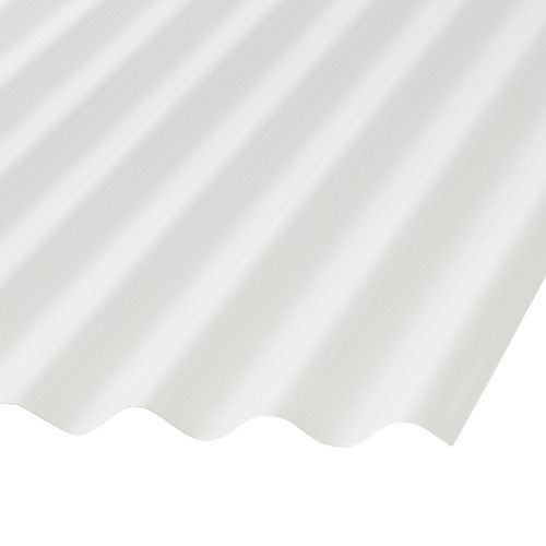 Palruf Corrugated PVC 12 Ft  White Opaque Roofing Panels