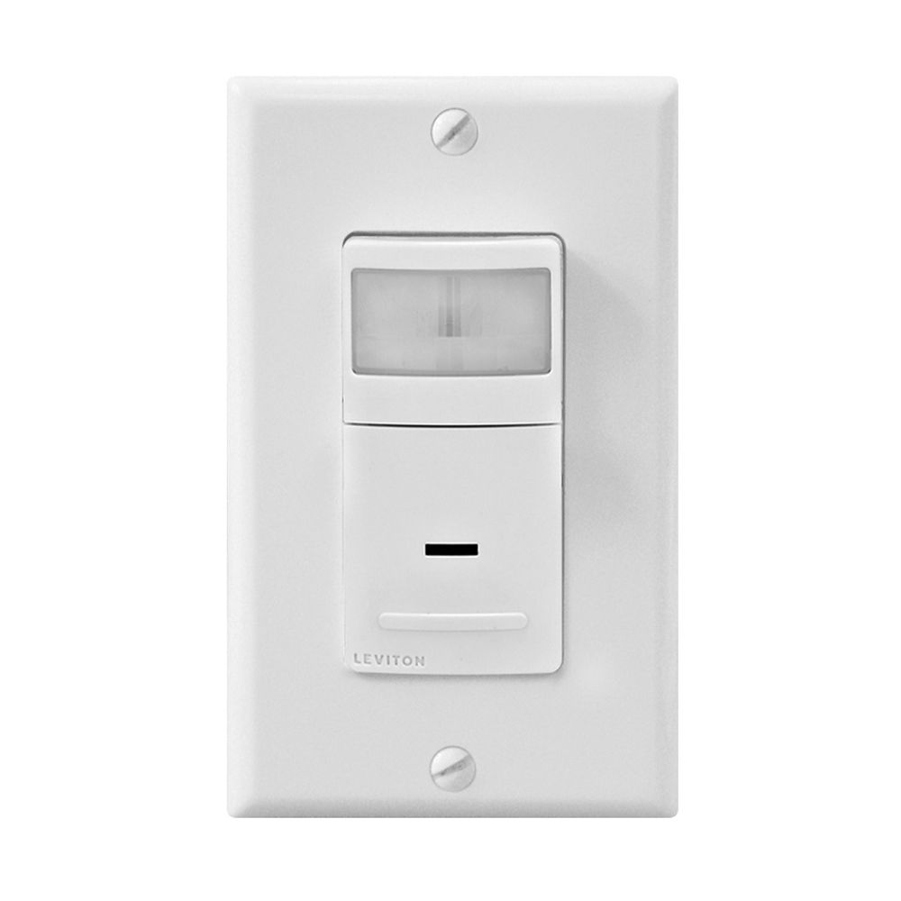 180 degree 3-Way Motion Sensor Switch, White