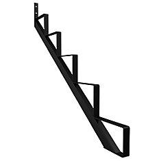 Steel Stair Riser, 5 Step - Black
