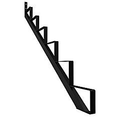 Steel Stair Riser, 6 Step - Black