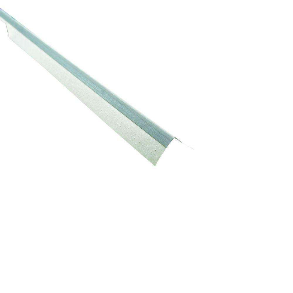 Paper-Faced Metal Inside Corner Bead, B2 3/8 In. x 3/8 In. 90 degree, 10 Ft.