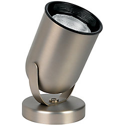 Hampton Bay 1-Light Round Uplight in Brushed Nickel