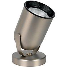 1-Light Round Uplight in Brushed Nickel