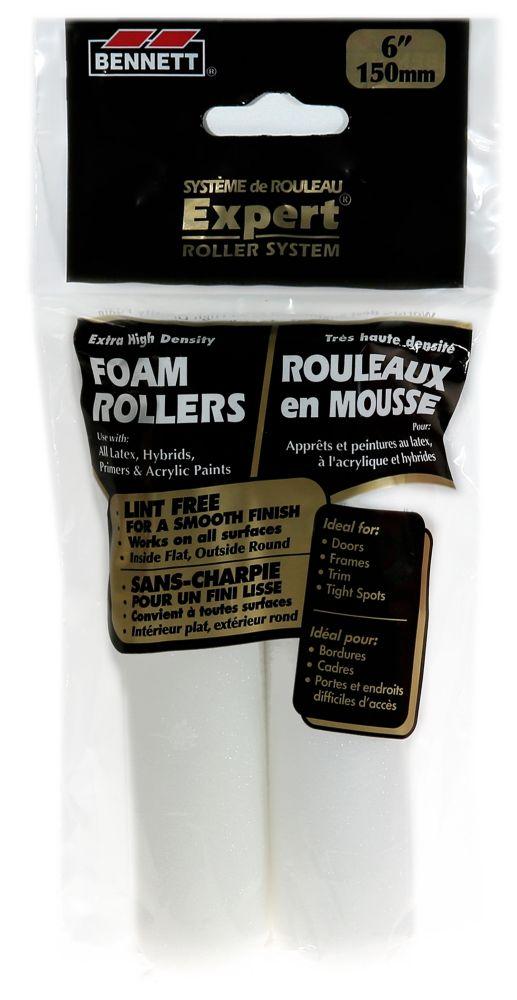 2 Pack 6 Inch.  Mini Foam Rollers