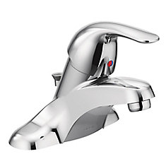 Adler 4-inch Centerset Single-Handle Low-Arc Bathroom Faucet In Chrome