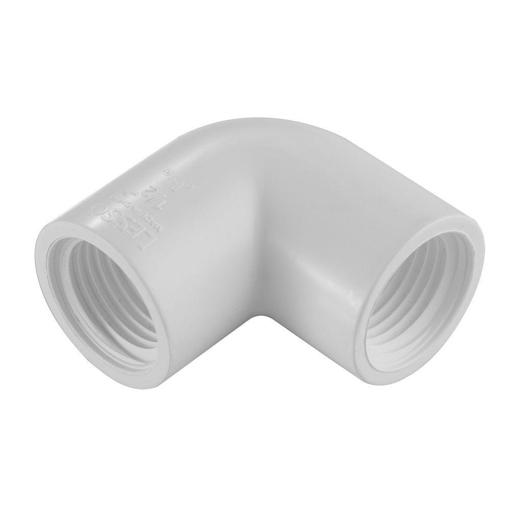 Coude de 90 degrés FIPT en PVC de 3/4 po