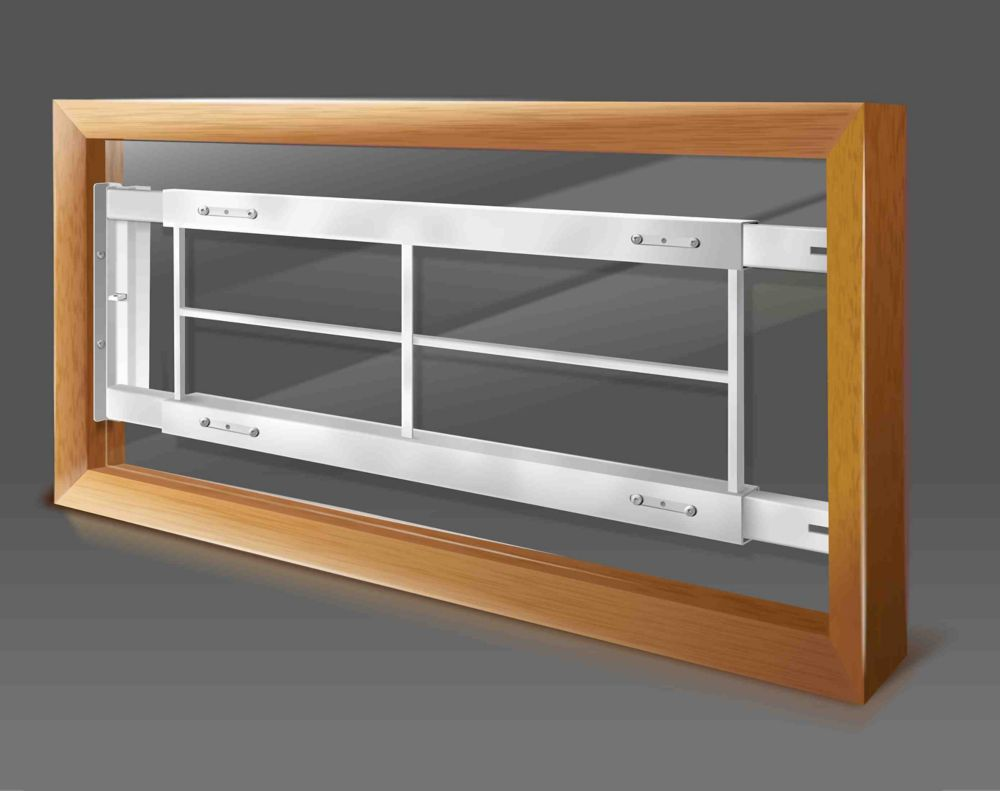 202 C Hinged Window Bar Fits windows 42-54 In. wide and 12-24 In. high