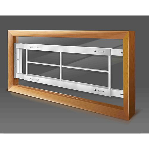 Mr. Goodbar 202 C 42-inch to 54-inch W Hinged Window Bar