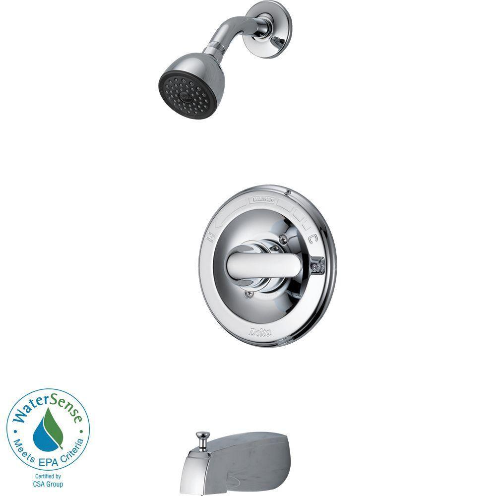 Robinet manette-levier unique pour la baignoire et la douche,  régulateur de pression