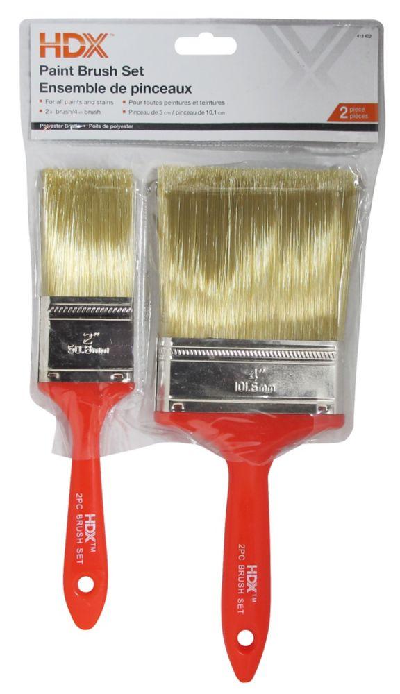 2 Piece Paint Brush Set