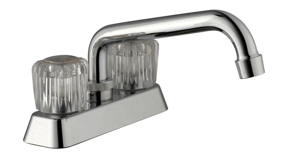 GLACIER BAY 4-inch Centerset 2-Handle Laundry Faucet in Chrome