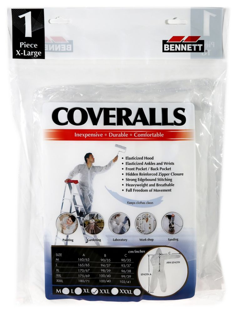 Coveralls -Xtra Large-White