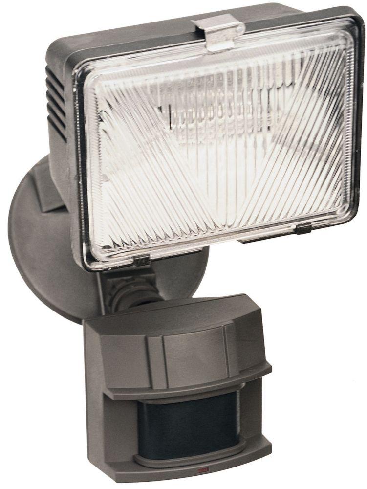 Lumière de sécurité de 180 degrés à détecteur de mouvement à halogène de 250 watts - bronze