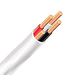 Southwire Electrical Cable Copper Electrical Wire Gauge 14/3 - Romex SIMpull NMD90 14/3 White - 10M