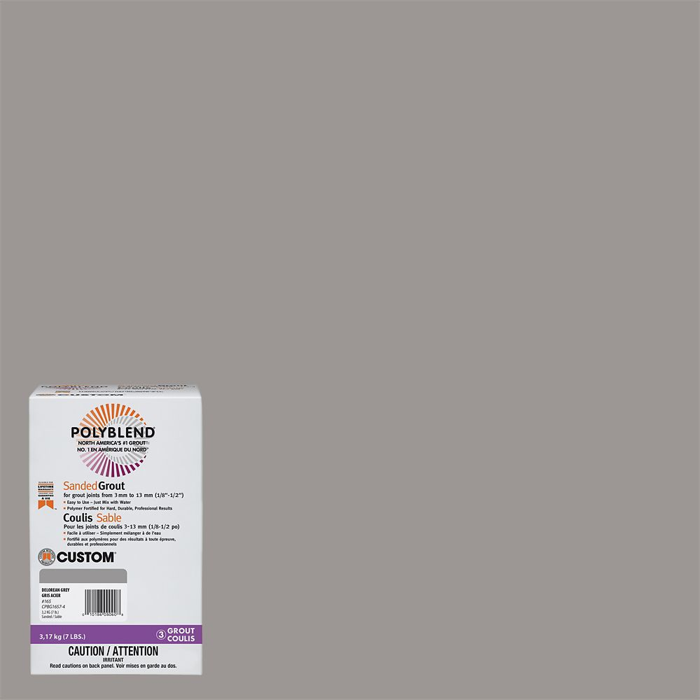 #165 Delorean Gray - Polyblend Sanded Grout - 7lb