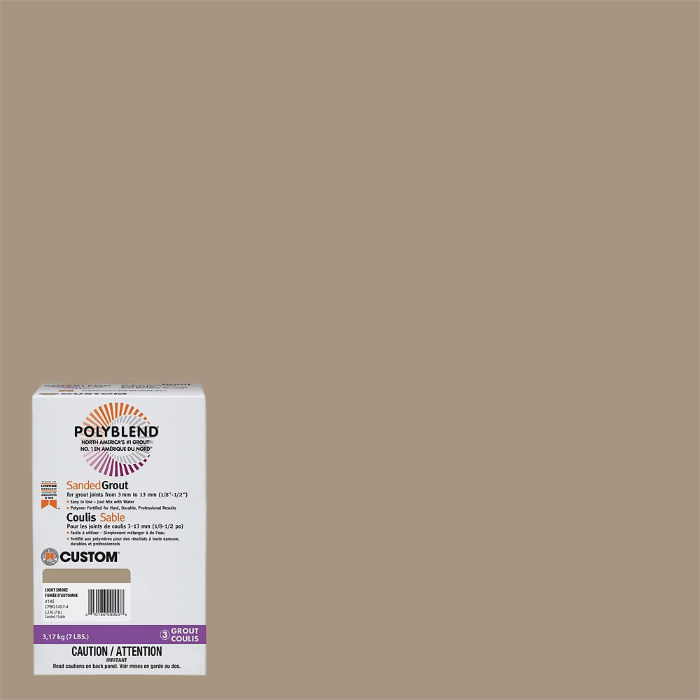 Custom Building Products #145 Light Smoke - Polyblend Sanded Grout - 7lb