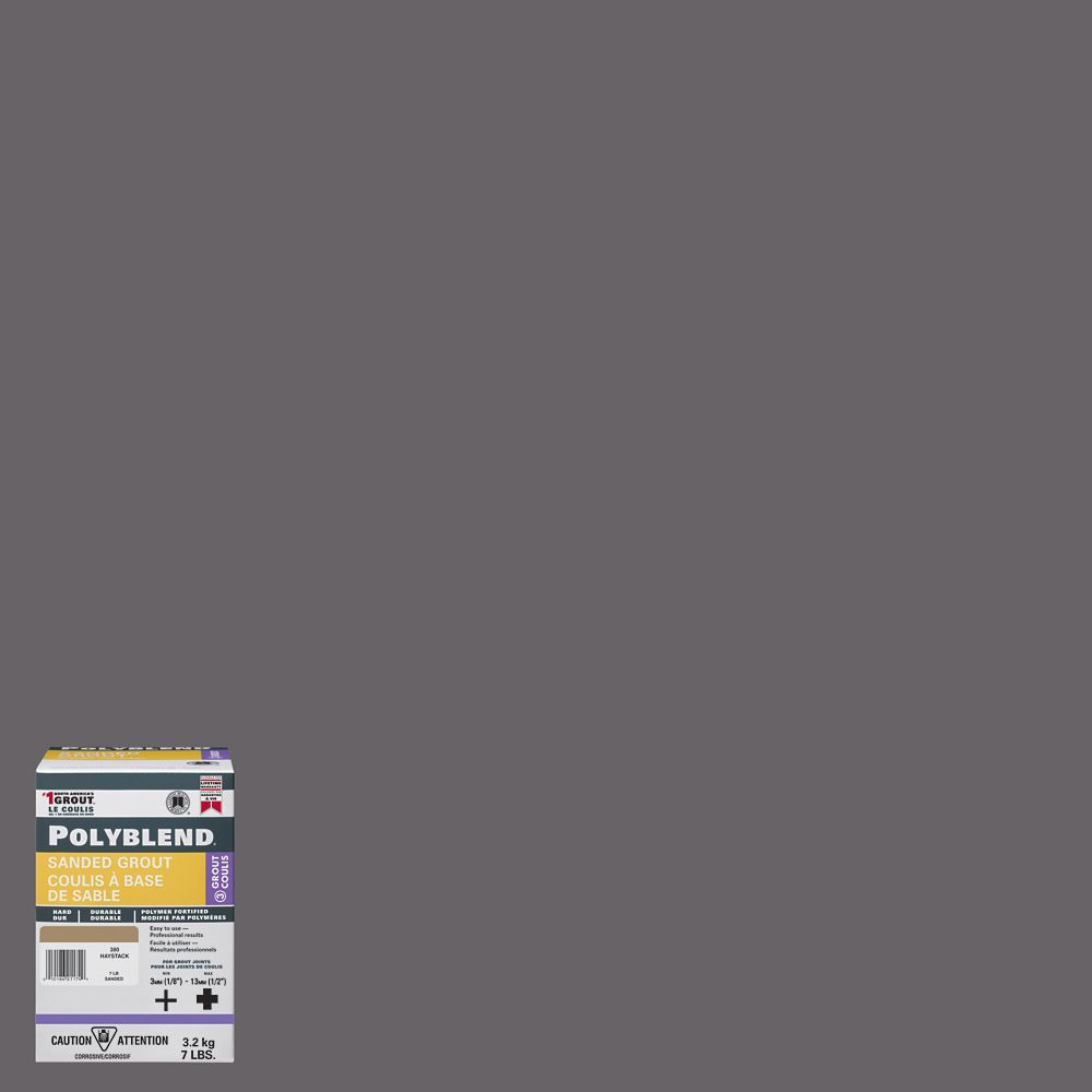 #19 Pewter - Polyblend Sanded Grout - 7lb