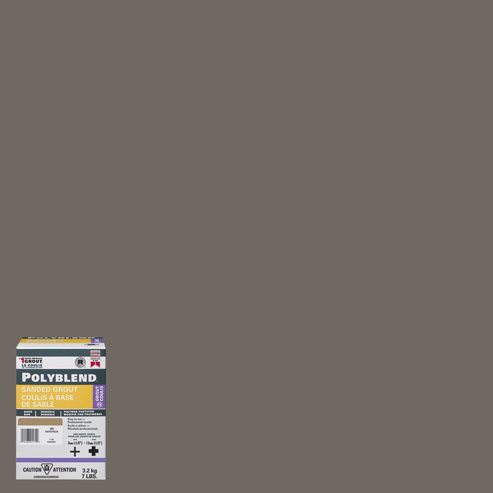 #9 Natural Gray  - Polyblend Sanded Grout - 7lb