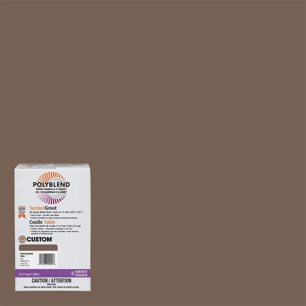 #52 Tobacco Brown - Polyblend Sanded Grout - 7lb