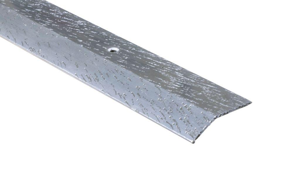Equalizer Floor Moulding, Hammered Silver - 1-1/2 Inch