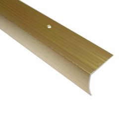 Shur Trim Stair Nosing Floor Moulding, Hammered Gold - 1-1/8 Inch