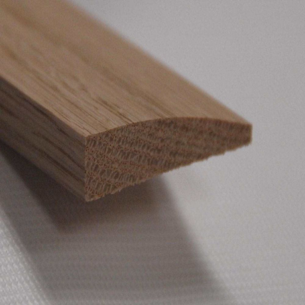 Red Oak Reducer Floor Moulding, Natural - 7/16 Inch