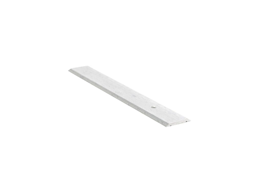 Seambinder Floor Moulding, Hammered Silver - 1 Inch