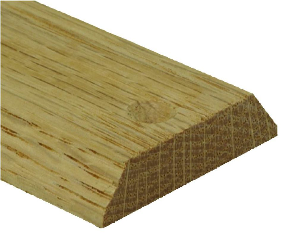 Red Oak Equalizer/Binder Bar Floor Moulding, Natural - 3/16in/1-1/2 Inch